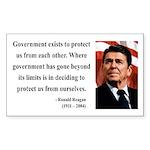 Ronald Reagan 20 Rectangle Sticker