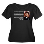 Ronald Reagan 20 Women's Plus Size Scoop Neck Dark