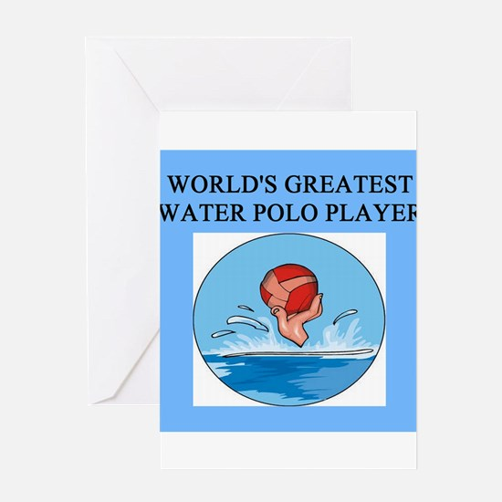 water polo gifts t-shirts Greeting Card