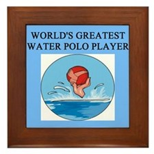 water polo gifts t-shirts Framed Tile