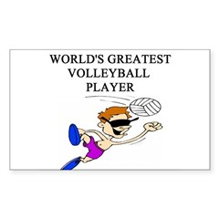 volleyball gifts t-shirts Rectangle Decal