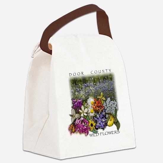 Door County Wildflowers Canvas Lunch Bag