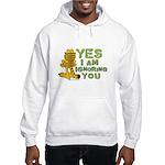 Ignoring you Garfield Hooded Sweatshirt