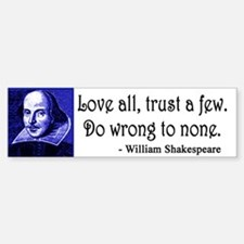 Pop Art Shakespeare Bumper Bumper Sticker