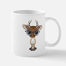 Cute Curious Nerdy Baby Deer Wearing Glasses Mugs