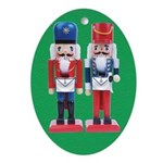 The Happy Masons Nutcrackers Oval Ornament