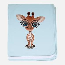 Cute Curious Baby Giraffe Wearing Glasses baby bla