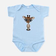 Cute Curious Baby Giraffe Wearing Glasses Body Sui