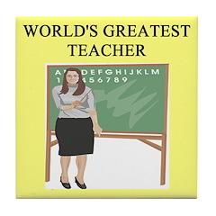 teacher gifts t-shirts Tile Coaster