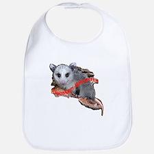 opossum on a log Bib