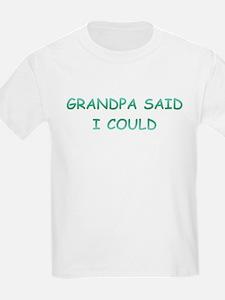 Grandpa Said I Could T-Shirt