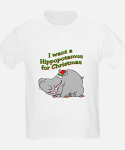 Christmas Hippo T-Shirt