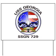 USS Georgia SSGN 729 Yard Sign