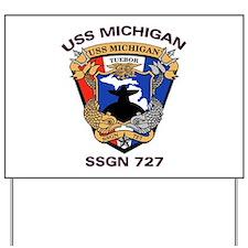 USS Michigan SSGN 727 Yard Sign