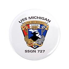 """USS Michigan SSGN 727 3.5"""" Button"""