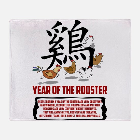 rooster8LightWith Traits.png Throw Blanket
