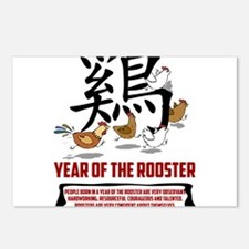 rooster8LightWith Traits. Postcards (Package of 8)