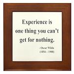 Oscar Wilde 11 Framed Tile