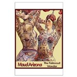 Maud Arizona Vintage Tattooed Lady Print Poster