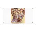 Maud Arizona Vintage Tattooed Lady Print Banner