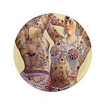 Maud Arizona Vintage Tattooed Lady Print Button