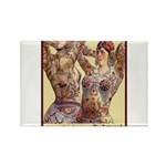 Maud Arizona Vintage Tattooed Lady Print Magnets