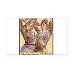 Maud Arizona Vintage Tattooed Lady Print Rectangle