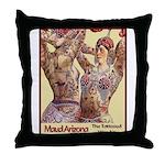 Maud Arizona Vintage Tattooed Lady Print Throw Pil