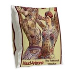 Maud Arizona Vintage Tattooed Lady Print Burlap Th
