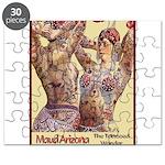 Maud Arizona Vintage Tattooed Lady Print Puzzle
