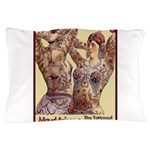 Maud Arizona Vintage Tattooed Lady Print Pillow Ca