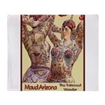 Maud Arizona Vintage Tattooed Lady Print Throw Bla