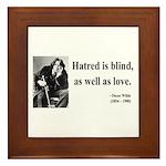 Oscar Wilde 12 Framed Tile
