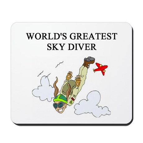 sky diving gifts t-shirts Mousepad