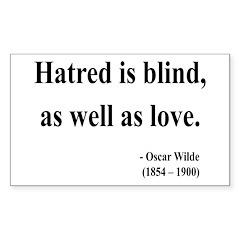 Oscar Wilde 12 Rectangle Decal