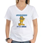 Cool Garfield Women's V-Neck T-Shirt