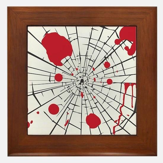 halloween shattered glass Framed Tile