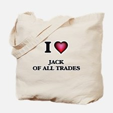 I Love Jack Of All Trades Tote Bag