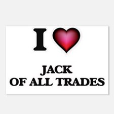 I Love Jack Of All Trades Postcards (Package of 8)