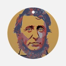 Henry David Thoreau Round Ornament