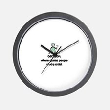 Cute Geologist Wall Clock