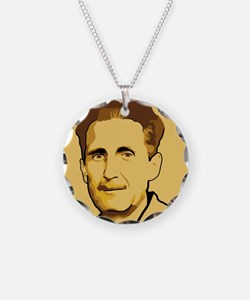George Orwell Necklace Circle Charm