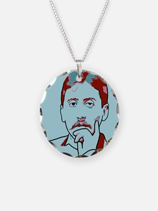 Marcel Proust Necklace Circle Charm