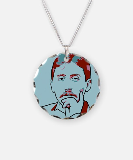 Marcel Proust Necklace Circle Charm