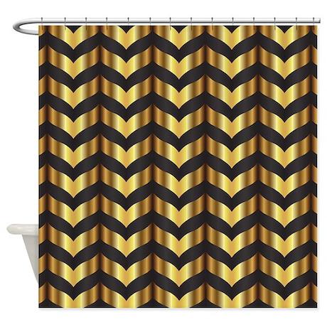Gold Gatsby Chevron Shower Curtain By Admin CP13506533