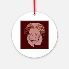 Toni Morrison Round Ornament