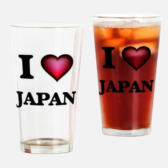 I Love Japan Drinking Glass