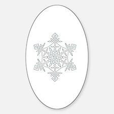 Unique Simple Sticker (Oval)