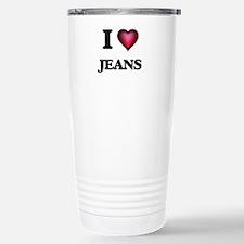 I Love Jeans Stainless Steel Travel Mug