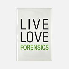 Live Love Forensics Rectangle Magnet